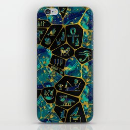 Egyptian  Gold and Marble Voronoi diagram iPhone Skin