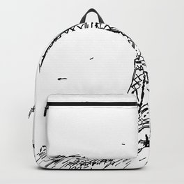 Paris Eiffel Tower Drawing Backpack
