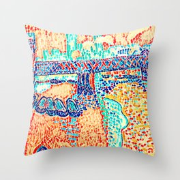 Novelty Modern Abstract Art Deco Multi Color Throw Pillow