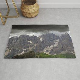 Mountains Alps Peaks Storm Rug