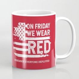 We Wear Red Friday American Flag Coffee Mug