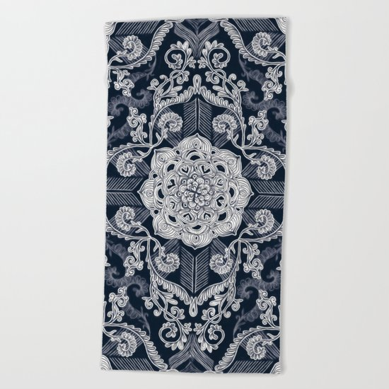 Centered Lace - Dark Beach Towel