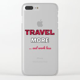 Cute Traveling for Travelers Clear iPhone Case