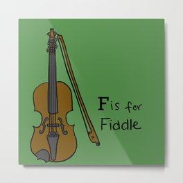 Fiddle Metal Print