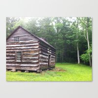 cabin Canvas Prints featuring Cabin by artofabeatingheart