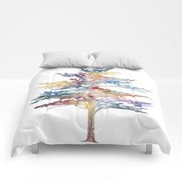 Fir Tree Acrylic Painting Comforters