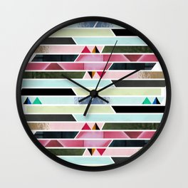 Aztec Stripe Wall Clock