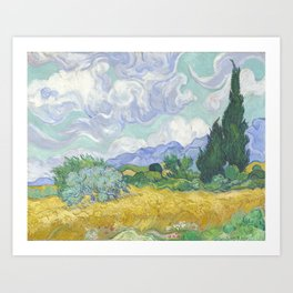 Vincent van Gogh - Wheat Field With Cypresses Art Print