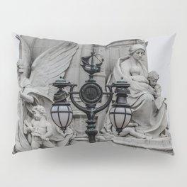 Ship Topped Street Lamp near Buckingham Palace London England Pillow Sham