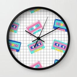 Memphis Cassette Pattern Wall Clock