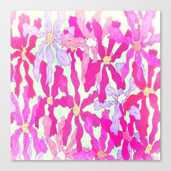 Bright and Hazy Floral Canvas Print