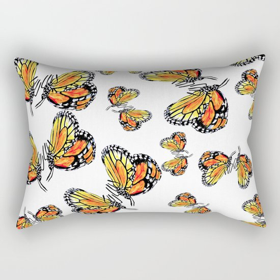 Monarch Butterflies Rectangular Pillow