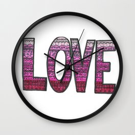 Love Design Wall Clock