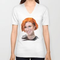 hayley williams V-neck T-shirts featuring Low Poly Design Hayley Williams by kertasputih