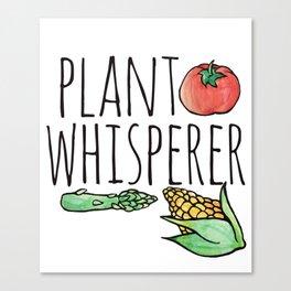Plant whisperer Canvas Print