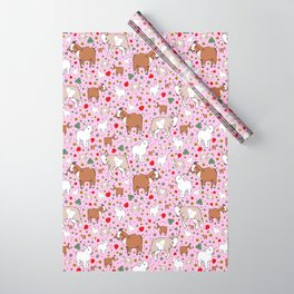 Cute Goat Design Wrapping Paper