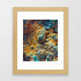 Bubbly Turquoise with Rusty Dust Framed Art Print