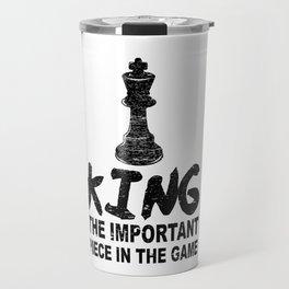 Chess Gift King Chess Game Player  Travel Mug