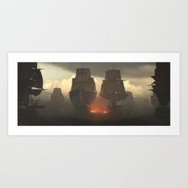 Battle of the Nile Art Print