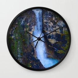 Falls of the Pool along the Berg Lake Trail in BC, Canada Wall Clock