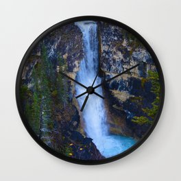 Falls of the Pool along the Berg Lake Trail in BC, Canada Wall Clock