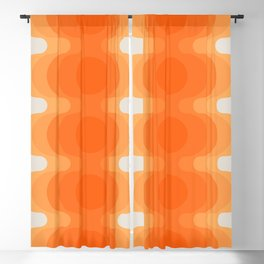 Echoes - Creamsicle Blackout Curtain