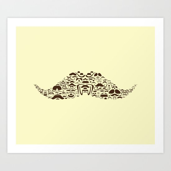 Mustache Of Mustaches Art Print