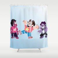 steven universe Shower Curtains featuring Steven by pokegirl93