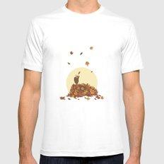 Autumn Hedgehogs Mens Fitted Tee White MEDIUM