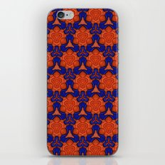Pattern - Blue/Orange iPhone & iPod Skin