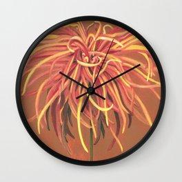 Big Orange Pop Art Chrysthanthemum Wall Clock