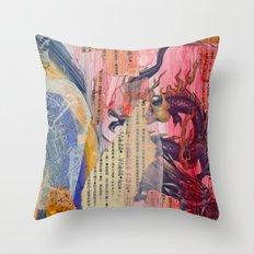 Collage Love - Zhong Long Throw Pillow