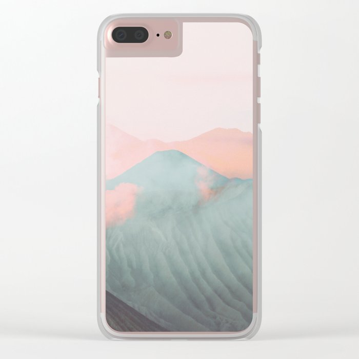 Pastel Volcano Clear iPhone Case