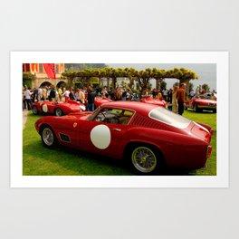 Ferrari's at Villa D'Este Art Print