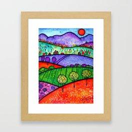 Landscape - Boone, North Carolina Framed Art Print