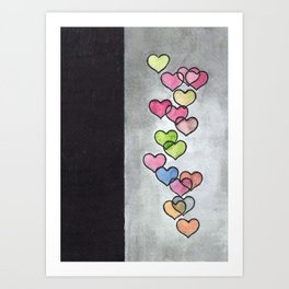 Periscope Hearts Art Print