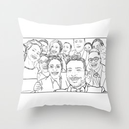 Oscar Selfie Throw Pillow