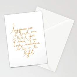 turn on the light Stationery Cards