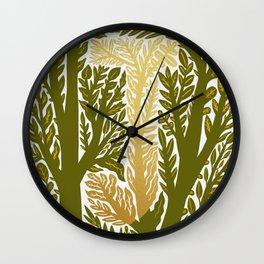 Botanical Metallic Monogram - Letter J Wall Clock