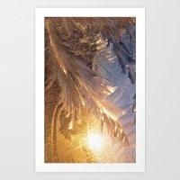frozen Art Prints featuring Frozen by Joke Vermeer
