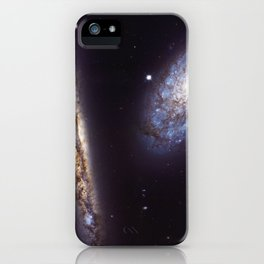1669. NGC 4302 and NGC 4298  iPhone Case