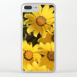 Bright and Sunny Yellow Daisies Clear iPhone Case
