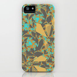 Blowing Leaves Abstract iPhone Case