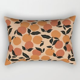 Seamless Citrus Pattern / Oranges Rectangular Pillow