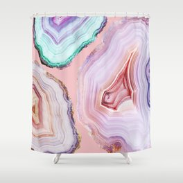Mineral Agates #Glam collection Shower Curtain