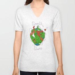 Earth Heart Unisex V-Neck