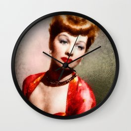 Lucille Ball, Vintage Actress Wall Clock