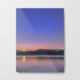 Comet Neowise over Cubillas. Granada. Spain Metal Print