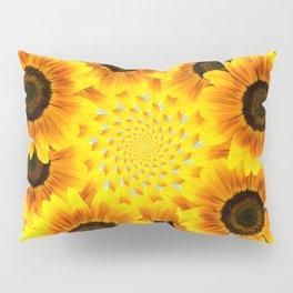 Spinning Sunflowers Pillow Sham