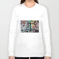 grafitti Long Sleeve T-shirts featuring Layers by AntWoman